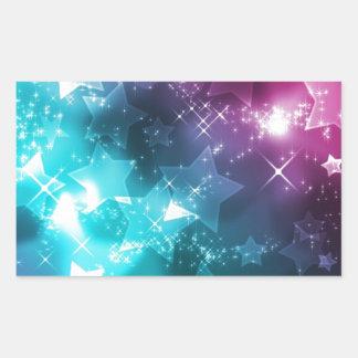 galaxy and stars rectangular sticker