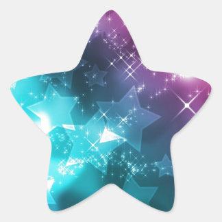 galaxy and stars star sticker