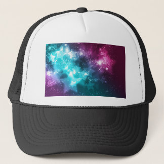 galaxy and stars trucker hat