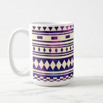 andes, aztec, space, pattern, stripes, cool, stars, galaxy, illustration, funny, abstract, vintage, mayan, mug, Caneca com design gráfico personalizado