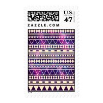 nebula, andes, aztec, tribal, cool, trendy, stars, galaxy, pattern, space, illustration, abstract, funny, vintage, mayan, postage, stamp, Stamp with custom graphic design