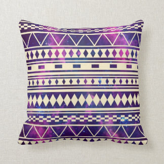 Galaxy andes aztec throw pillow