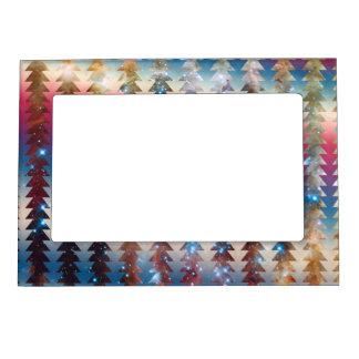 Galaxy Arrows Pattern Space Tribal Geometric Magnetic Photo Frame