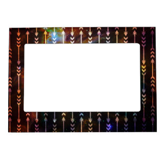 Galaxy Arrows Pattern Space Tribal Geometric Magnetic Picture Frame