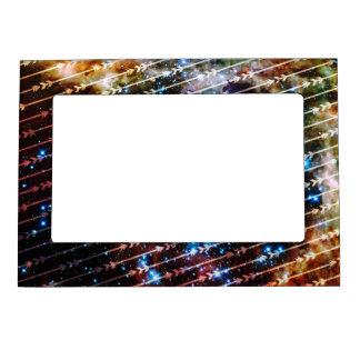 Galaxy Arrows Pattern Space Tribal Pattern Magnetic Frame