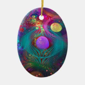 Galaxy Art Ceramic Ornament