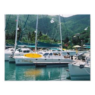 Galaxy at Nanny Cay-Tortola 4.25x5.5 Paper Invitation Card