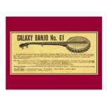 Galaxy Banjo Postcard