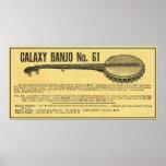 Galaxy Banjo Poster