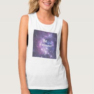 Galaxy: be a dreamer flowy muscle tank top