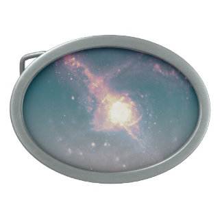 Galaxy Belt Buckle - Light Purple/Blue