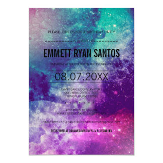 Outer Space Birthday Invitations with beautiful invitation design