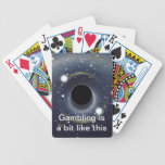 Galaxy Black hole in space Poker Deck