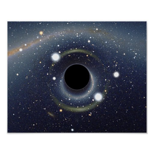 Galaxy Black hole in space poster