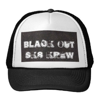 Galaxy Black Out Sk8 Krew Hats