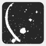 """""""Galaxy"""" (Black / White ) Square Stickers"""
