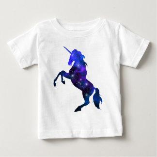 Galaxy  blue beautiful unicorn sparkly image baby T-Shirt