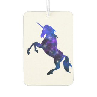 Galaxy  blue beautiful unicorn sparkly image car air freshener