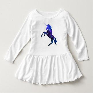 Galaxy  blue beautiful unicorn sparkly image dress