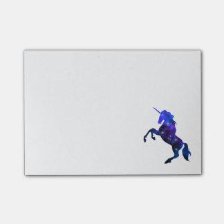 Galaxy  blue beautiful unicorn sparkly image post-it notes