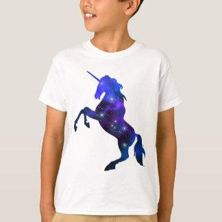 Galaxy  blue beautiful unicorn sparkly image T-Shirt