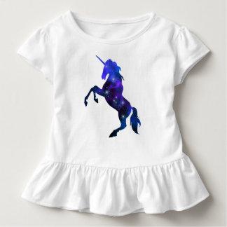 Galaxy  blue beautiful unicorn sparkly image toddler t-shirt