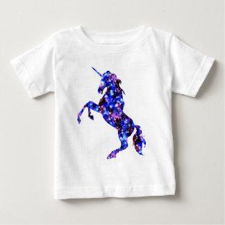 Galaxy blue beautiful unicorn starry sky image baby T-Shirt