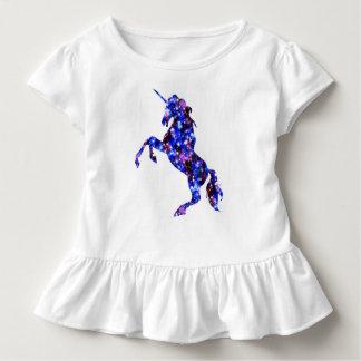 Galaxy blue beautiful unicorn starry sky image toddler t-shirt