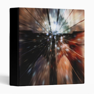 "Galaxy Blur Brooklyn Bridge 1"" Photo Album 3 Ring Binder"