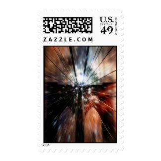 Galaxy Blur Brooklyn Bridge Postage Stamp