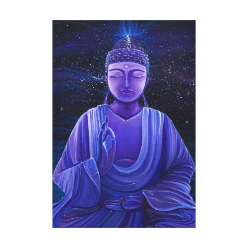 Galaxy Buddha Universe Painting on Canvas