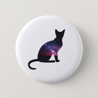 Galaxy Cat Button