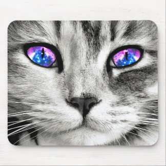 Galaxy Cat Eyes Mouse Pad