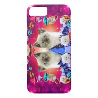 galaxy cat in diamond iPhone 8/7 case
