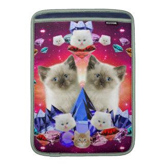 galaxy cat in diamond MacBook sleeve