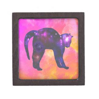 Galaxy Cat Jewelry Box