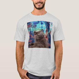 Galaxy Cat Surprise T-Shirt