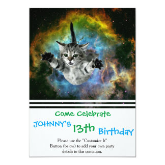Galaxy Cat Universe Kitten Launch Card