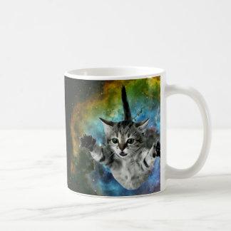 Galaxy Cat Universe Kitten Launch Coffee Mug