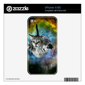 Galaxy Cat Universe Kitten Launch Decal For iPhone 4