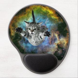 Galaxy Cat Universe Kitten Launch Gel Mouse Pad