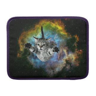 Galaxy Cat Universe Kitten Launch MacBook Air Sleeve
