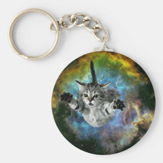 Galaxy Cat Universe Kitten Launch Keychain