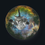 "Galaxy Cat Universe Kitten Launch Paper Plate<br><div class=""desc"">Galaxy Cat Universe Kitten Launch &quot;cosmic cat&quot;, &quot;meme cat&quot;, cat, meme, galaxy, &quot;space cat&quot;, cats, funny, cool, space, cosmos, stars, kittens, cute, planet, grey, eyes, kitty, supernova, universe, rocket, nebula, gray, kitten, stellar, astronaut, launch, &quot;green eyes&quot;, feline, floating, heroic, multicolor, &quot;into space&quot;, &quot;in space&quot;, &quot;cat galaxy&quot;, &quot;cat with green eyes&quot;,...</div>"