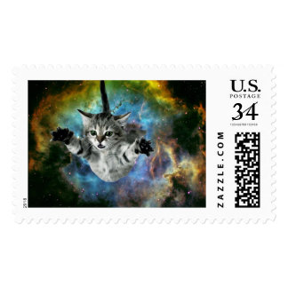 Galaxy Cat Universe Kitten Launch Postage