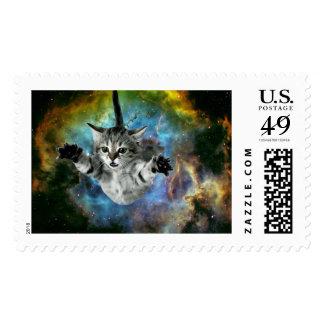 Galaxy Cat Universe Kitten Launch Postage