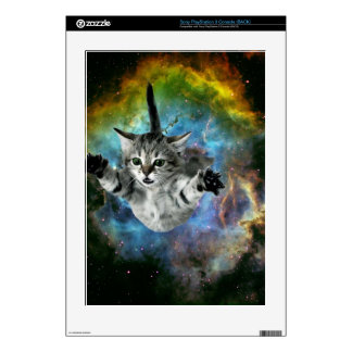 Galaxy Cat Universe Kitten Launch PS3 Decal