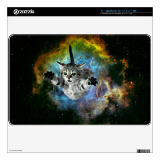 Galaxy Cat Universe Kitten Launch Skins For MacBook