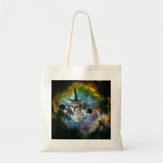 Galaxy Cat Universe Kitten Launch Tote Bag