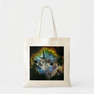 Galaxy Cat Universe Kitten Launch Tote Bag